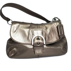 Coach Soho Hobo Shoulder Bag Metallic Gold